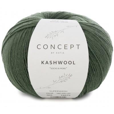 Włóczka Kashwool Sock&More 303 Fir green (Concept by Katia)