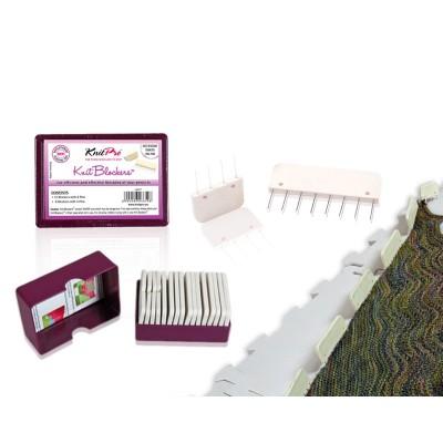 Szpilki - grzebienie do blokowania dzianin białe (KnitPro)