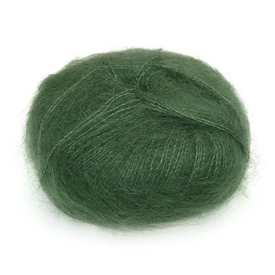 Włóczka Brushed Lace mohair 3025 Flaskegrøn (Mohair by...