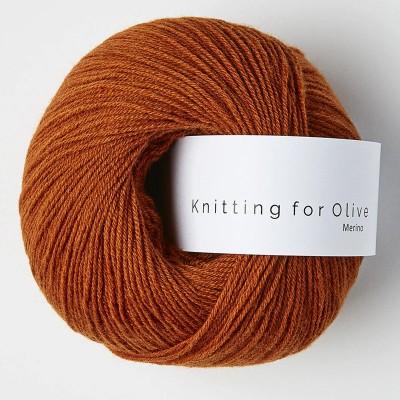 Włóczka Merino Burnt Orange  (Knitting for Olive)
