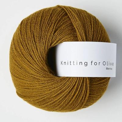 Włóczka Merino Dark Ocher (Knitting for Olive)