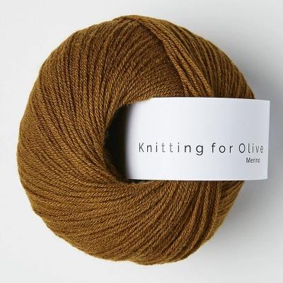 Włóczka Merino Ocher Brown  (Knitting for Olive)