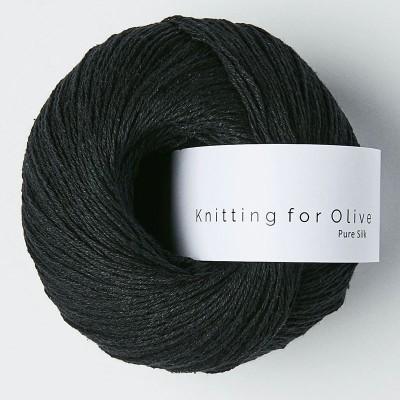 Włóczka Pure Silk  Charcoal (Knitting for Olive)