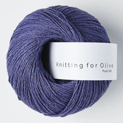 Włóczka Pure Silk Cornflower blue  (Knitting for Olive)