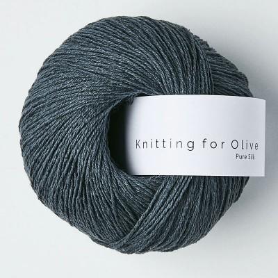 Włóczka Pure Silk Deep Petroleum Blue(Knitting for Olive)