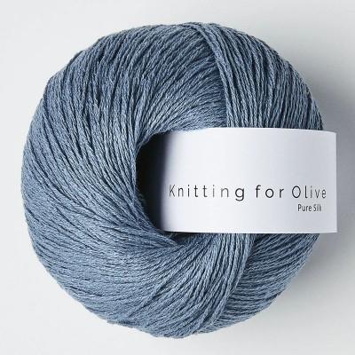 Włóczka Pure Silk Dove Blue  (Knitting for Olive)
