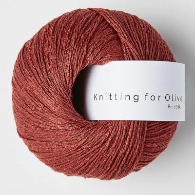 Włóczka Pure Silk Gooseberry Red (Knitting for Olive)