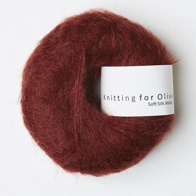 Włóczka Soft Silk Mohair Claret (Knitting for Olive)