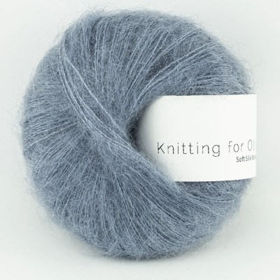 Włóczka Soft Silk Mohair Dusty Dove Blue (Knitting for...