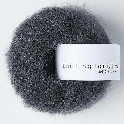 Włóczka Soft Silk Mohair Slate Gray (Knitting for Olive)