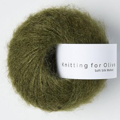 Włóczka Soft Silk Mohair Slate Green (Knitting for Olive)