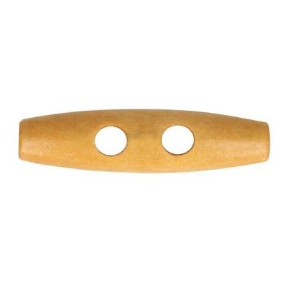 Guzik drewniany 30 mm jasny