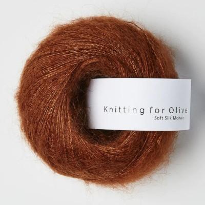 Włóczka Soft Silk Mohair Rust (Knitting for Olive)