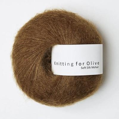 Włóczka Soft Silk Mohair Ocher Brown (Knitting for Olive)