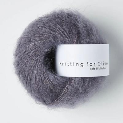 Włóczka Soft Silk Mohair Dusty Violet (Knitting for Olive)