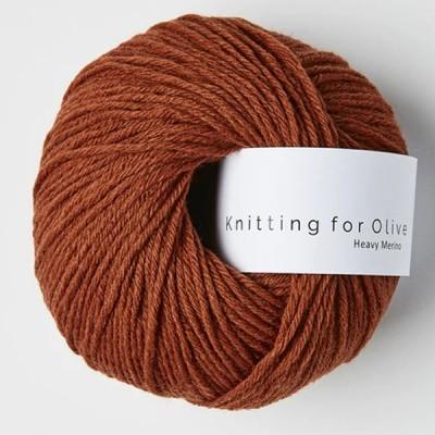Włóczka Heavy Merino Rust (Knitting for Olive)