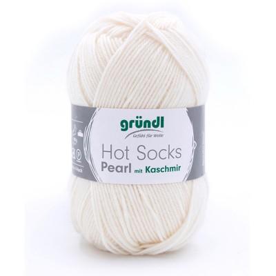 Włóczka Hot Sock Pearl uni 01 (Grundl)