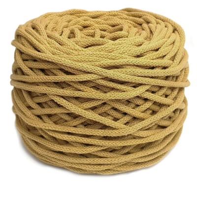 Sznurek bawełniany 5mm miodowy żółty (33)