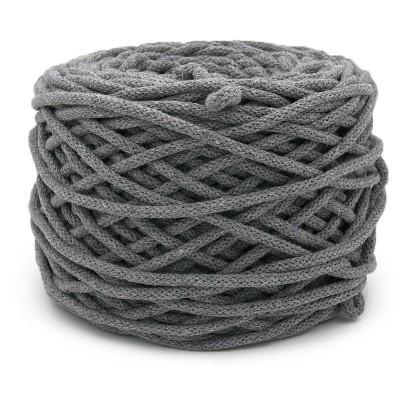 Sznurek bawełniany 5mm ciemny szary (15)